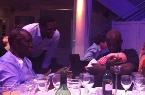 Kate's daughter Ella meets Ngugi wa Thiong'o & Binyavanga Wainaina at the ASAUK Conference Dinner
