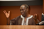 Ngugi wa Thiong'o giving his plenary lecture 'Africa in the Language of Scholarship' at ASAUK