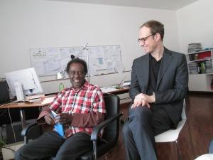 Kojo Laing and Johannes Hossfeld (Director of the Goethe Institut, Nairobi)