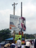 'Who says you can't BARAJE [shake your body, get down] in the presence of the Lord' - sign from Ile-Ife, Nigeria.
