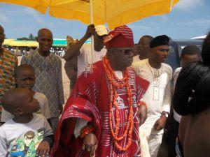 Oba Akran, King of Badagry, SW Nigeria