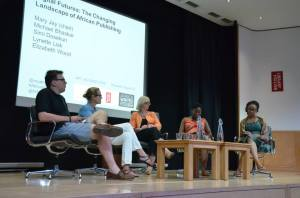 Panelists left to right: Michael Bhaskar, Elizabeth Wood, Mary Jay, Lynette Lisk & Simi Dosekun.