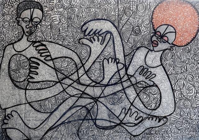 Thy Hypnotic Lover by Victor Ehikhamenor