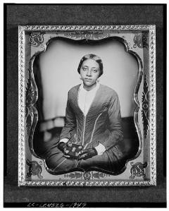 Picture of unidentified woman by Augustus Washington [1855], from http://www.loc.gov/