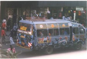 A matutu (private taxi) in the busy streets of Nairobi. Photo: Dr Mbugua wa Mungai