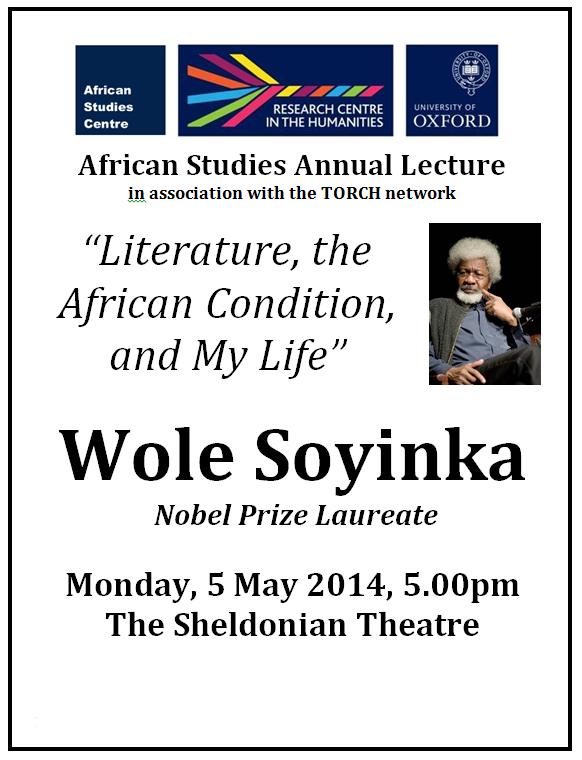 soyinka lecture 5 may 14