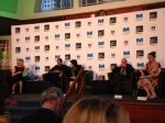 MBI15 Panel: Nadeem Aslam, Wen-chin Ouyang, Marina Warner, Edwin Frank and Elleke Boehmer, UCT.  Photo Sarah Middleton.