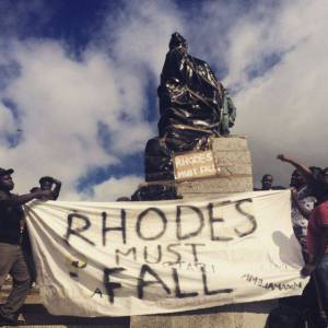 Rhodes Must Fall campaign. Image credit: https://www.facebook.com/RhodesMustFall