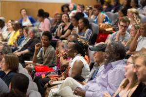 The audience for Ben Okri at Africa Writes © Benjamin Elwyn