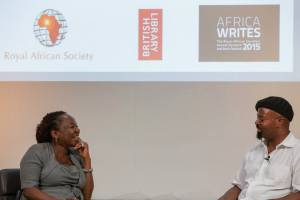Okri in conversation with Allfrey