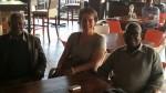 Ranka Primorac with Professors Moses Musonda and Mubanga Kashoki in Lusaka.
