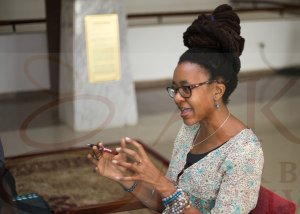 Nnedi Okorafor at the Fiction Writing Workshop © Ake Arts & Book Festival