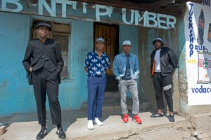 The Sartists (Wanda Lephoto, Xzavier Zulu, Kabelo Kungwane and Andile Buka) photographed by Victor Dlamini