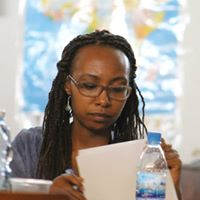 Darla Rudakubana, co-winner of the 2015 Huza Press Award for Fiction at the workshop.