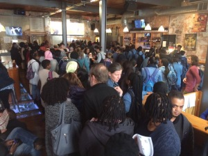 5_packed foyer ready to attend an event at the Fugard Theatre