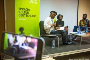 Okey Ndibe reading at Goethe Institut Lagos