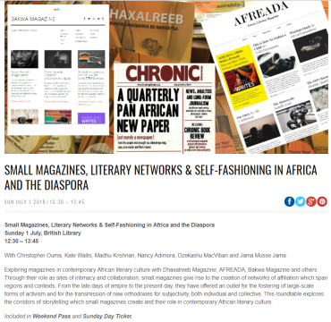 Small mags - Africa Writes