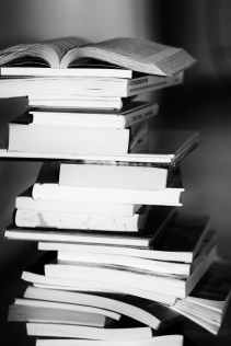 black and white books education facts