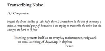 Transcribing noise cut