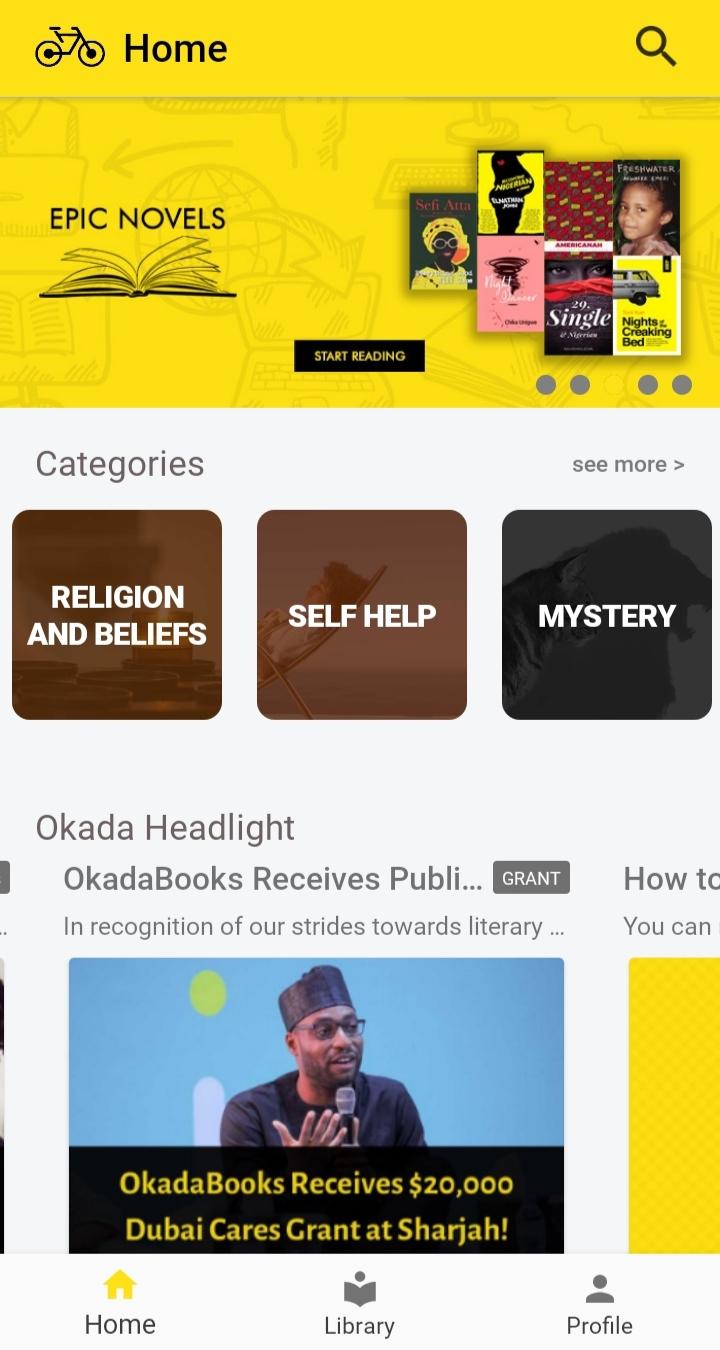 OkadaBooks App Screenshot