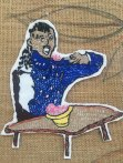 """Detail from the Keiskamma COVID-19 Resilience Tapestry – """"vulnerable man eating"""""""