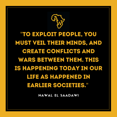 From El Saadawi's essay 'About Me in Africa - Politics and Religion in my Childhood', featured among hundreds of other stories, essays and poems in the amazing anthology, New Daughters of Africa (@myriad_editions). https://www.instagram.com/p/CF7hvqZD2kX/