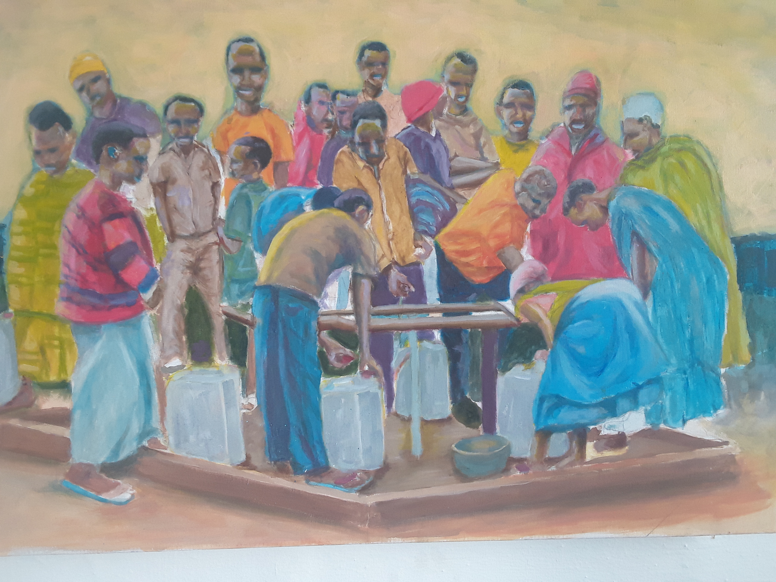 Artist Phumlile Rawana processwork.