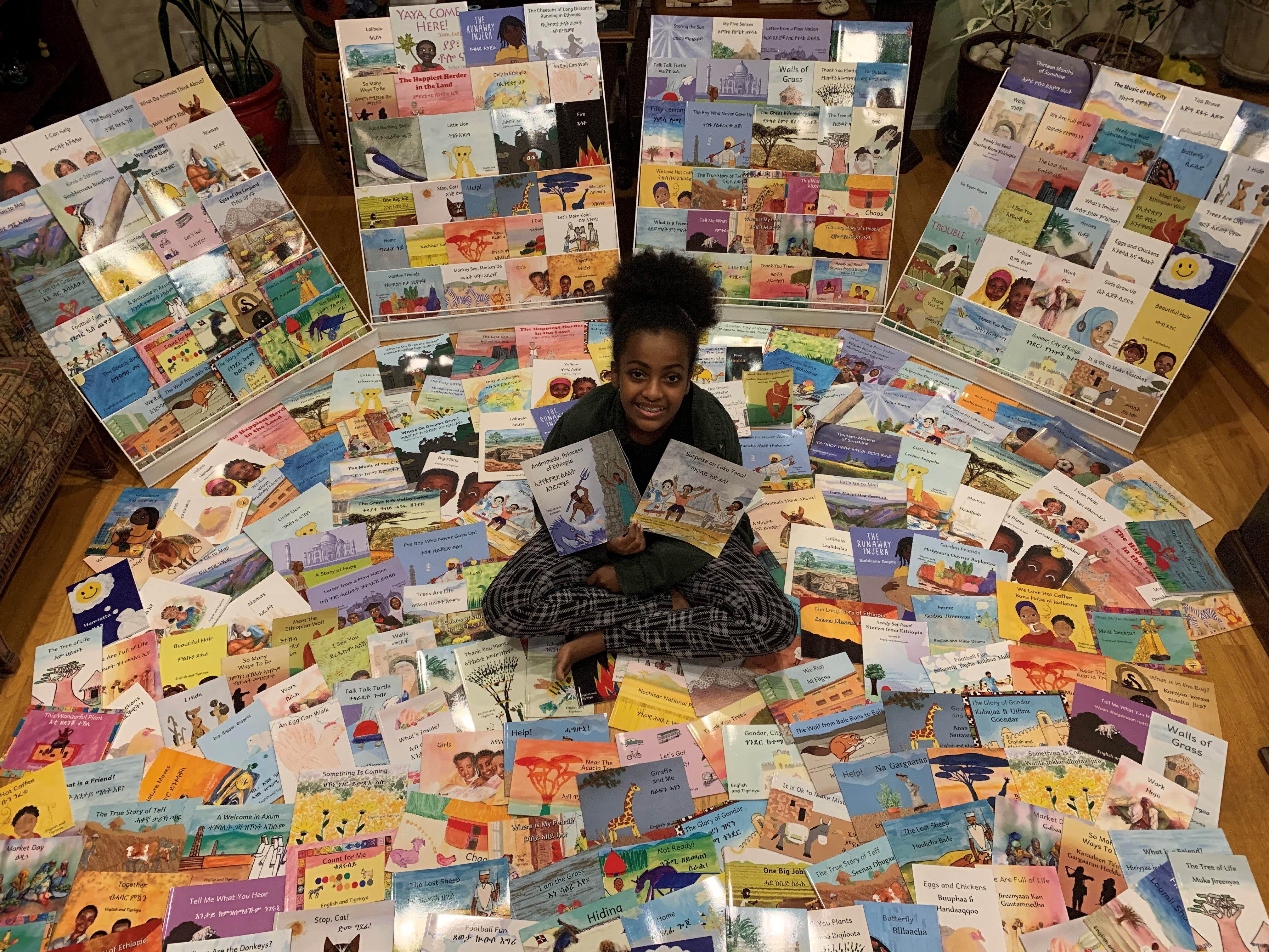 OHBD AIW 4 Leyla with all our books