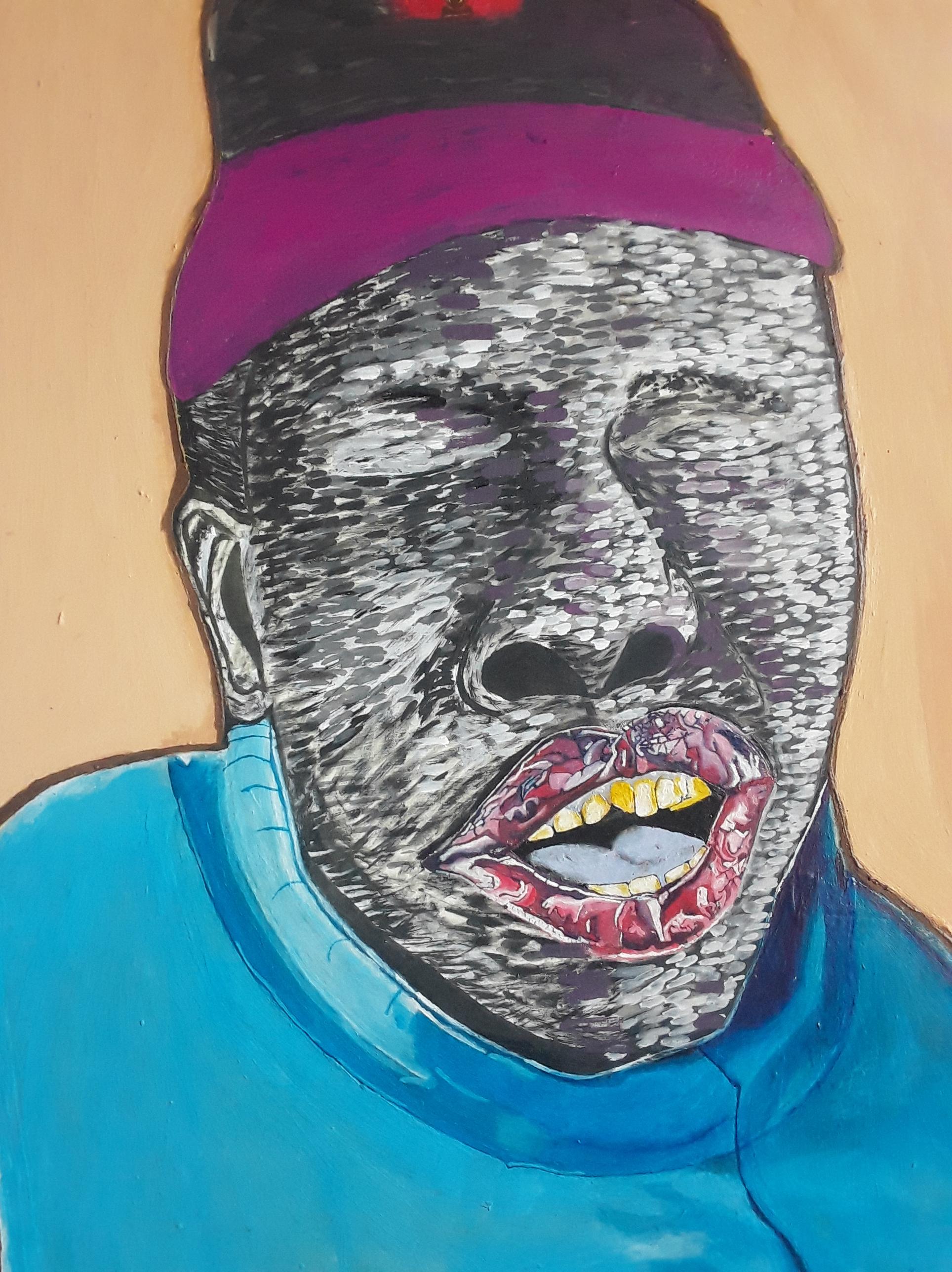 the cry. acrylic on canvas. 90x50cm. 2020.
