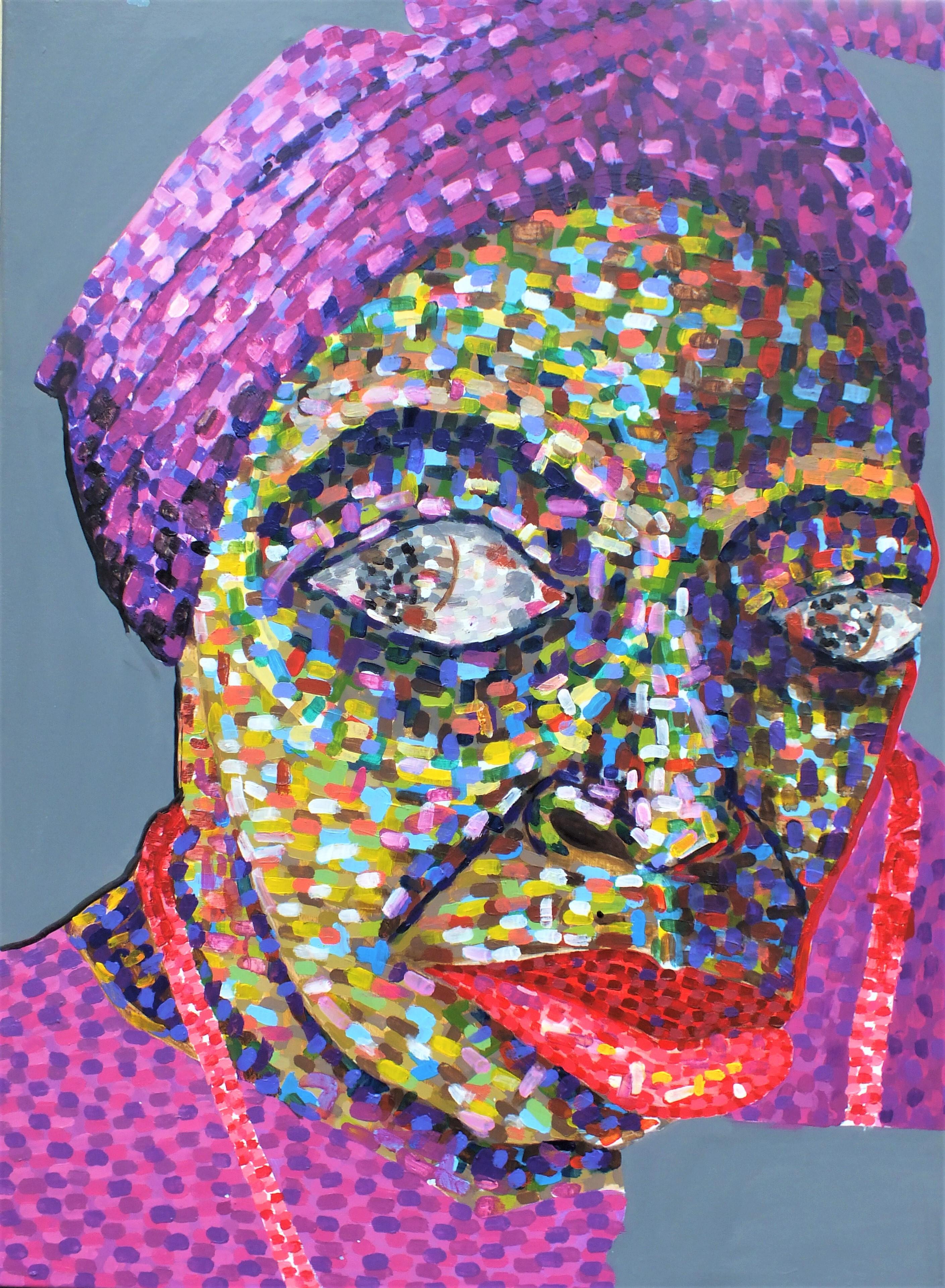 woman. acrylic on canvas. 101,2x70,6cm. 2021.